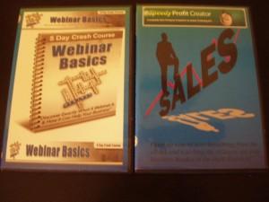 Webinar Basics and Speedy profit Creator DVD's